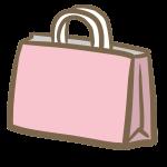 お土産(ピンクの紙袋)