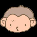 不満な猿の顔