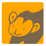 猿のアップ