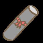 卒業証書の筒(赤リボン)