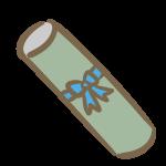 卒業証書の筒(青リボン)