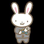 ウサギの卒業生(学ラン)