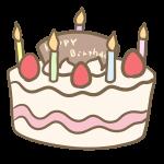 バースデーケーキ(ろうそく付き)