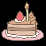 バースデーケーキ(カットチョコケーキ)