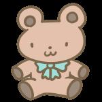 クマのぬいぐるみ(ブラウン)