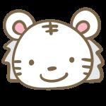 トラの顔(白)