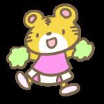 トラのチアリーダー(ピンク)