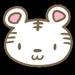 かわいいトラ(白)