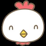 笑う鶏の顔