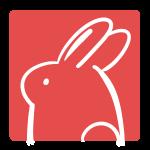 ウサギのはんこ(四角)