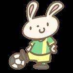 ウサギのサッカー(緑)