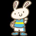 ウサギのバスケ(青)