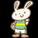 ウサギのバスケ(緑)