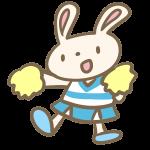 ウサギのチアリーダー(水色)