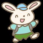 ウサギの小学生(男の子)