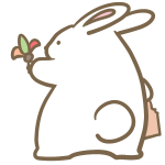 羽根つきをするウサギ