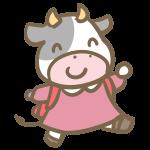 牛の小学生(女の子)