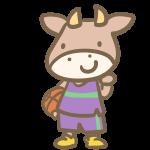 牛のバスケット(紫)