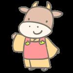 牛の女の子(着物)