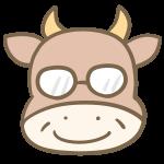 メガネの牛