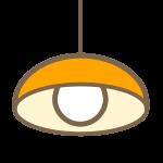 ペンダントライト(オレンジ)