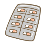 カプセル錠剤シート(オレンジ)