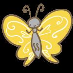 蝶(黄色)
