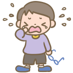 泣く男の子(メガネ)