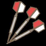 ダーツの矢(赤)