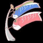 仰ぎ見る鯉のぼり