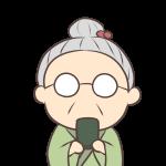 お茶を飲むおばあちゃん