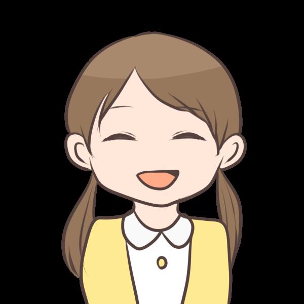 笑顔の女の子のイラスト かわいいフリー素材が無料のイラスト