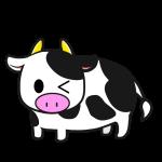 牛(ウィンク)