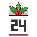 「12月24日」のカレンダー