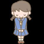 挨拶をする女子生徒(セーラー服)