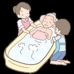 おばあさんの入浴介助