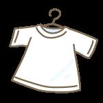 干された白いシャツ