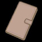 手帳型ケースのスマホ