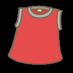 赤いフレンチシャツ
