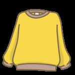 黄色いトレーナー