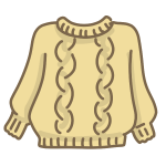 ベージュのセーター