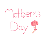 「 Mother's DAY 」文字