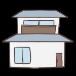 落ち着いた色の家
