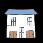 青い屋根の家