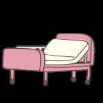 介護用ベッド(ピンク)