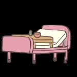 ベッドと食卓