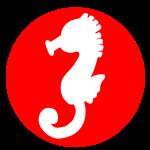 干支「辰(竜の落とし子)」シルエット