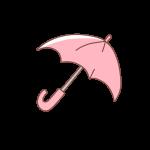 ピンクの傘
