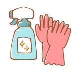 ゴム手袋と住居用洗剤