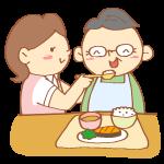 食事介助をする女性介護士